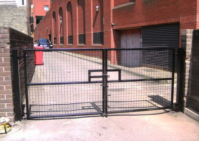 Security gates with mesh