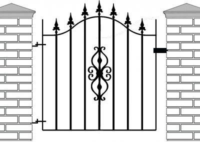 Elstead bell top pedestrian gate
