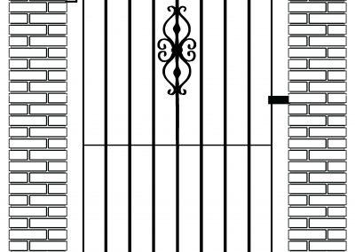Elstead bell top side gate