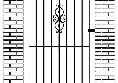 Elstead flat top side gate