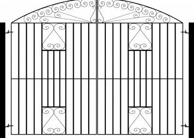 Southgate bow top entrance gates