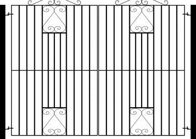 Southgate flat top entrance gates