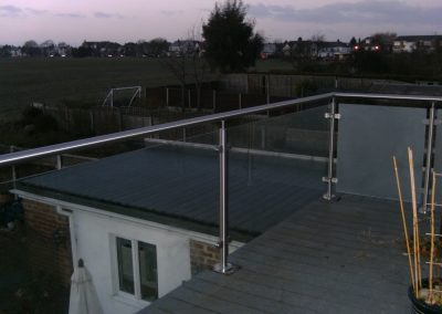 Stainless steel and glass balcony