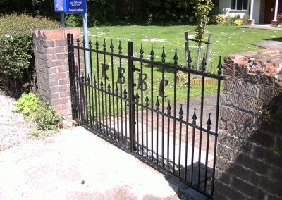 Victoria driveway pair with letters