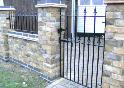 Victoria side gate and wall railing