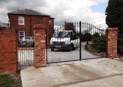 Victoria driveway gates with lettering 1