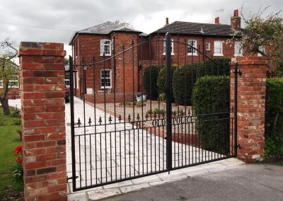 Victoria driveway gates with lettering 4