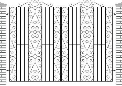 Wickford flat top entrance gates