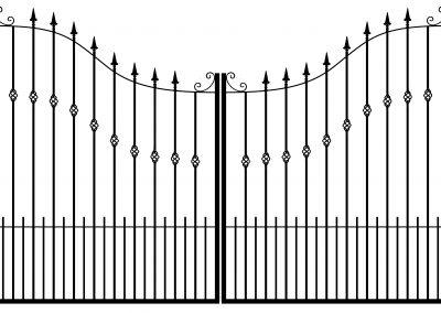 Winchester estate gates
