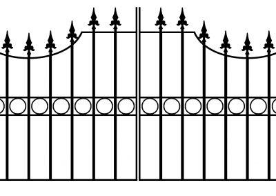 Windsor bump top driveway gates