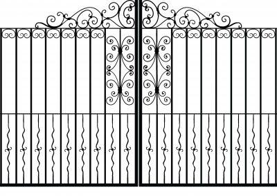 Yorkshire estate gates